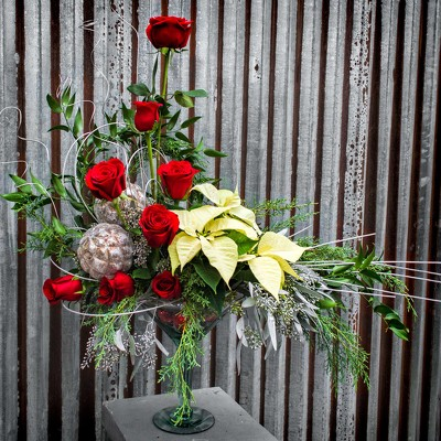Custom Christmas Arrangement - Call for Pricing from Marion Flower Shop in Marion, OH