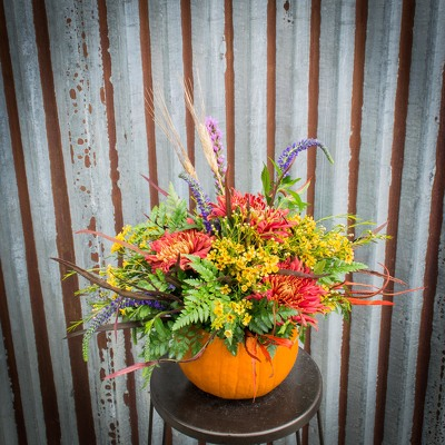 Fall Centerpiece - Real Pumpkin from Marion Flower Shop in Marion, OH