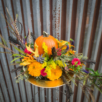 Fall Centerpiece - Round from Marion Flower Shop in Marion, OH