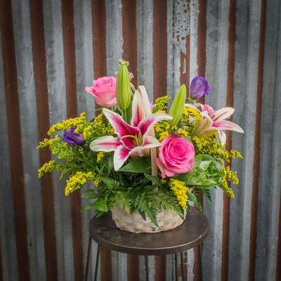Basket Arrangement from Marion Flower Shop in Marion, OH