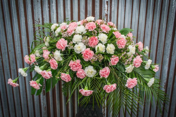 Carnation Casket Spray from Marion Flower Shop in Marion, OH